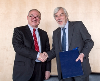 ESA Director General, Jean-Jacques Dordain, and CERN Director General, Rolf Heuer
