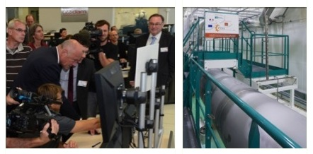 President of Aquitaine Region, Alain Rousset, inaugurates PETAL by launching a beam test under the watchful eye of CEA General Administrator, Daniel Verwaerde