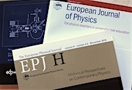 EJP and EPJ H covers