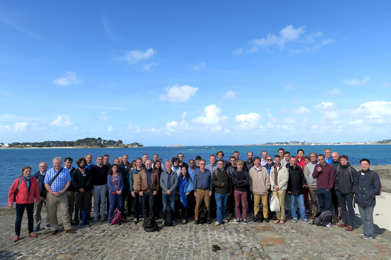 The participants of the first French-German Wilhelm and Else Heraeus seminar in Roscoff, France